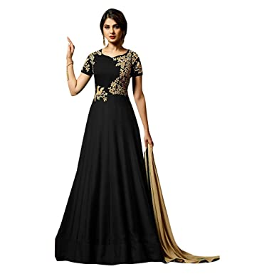 Amazon.com: Traje largo de seda de pakistaní de la India ...
