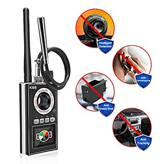 Anti Spy Detector & Hidden Camera Finder, Professional Wireless GPS Bug Tracker RF Signal Detectors, Listening Device Radio Scanner for Spying & Monitoring Home & Office