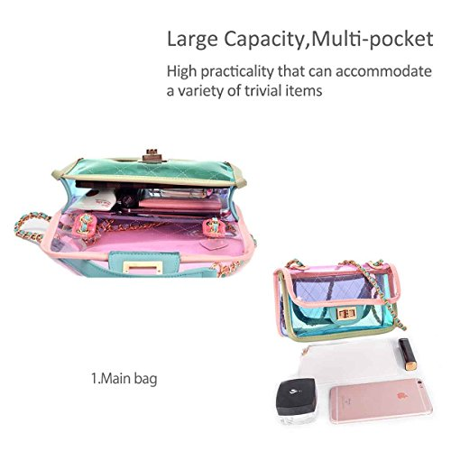 PVC amp; Shoulder Messenger Chain Handbags Bag Bags Pink Style Mini Cross Summer Transparent Body NICOLE DORIS 8azW8d