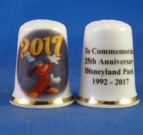 Jahrestag Birchcroft Fingerhut aus Porzellan zum Sammeln Disneyland Paris zum 25 Design