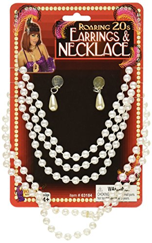 Forum Novelties 63184 Pearl Teardrop Jewelry Set ()