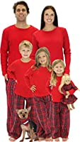 SleepytimePJs Premium Red Plaid Family Matching Pajamas
