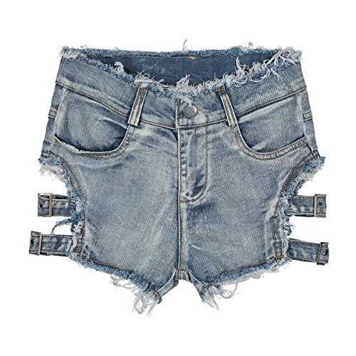 Black Lettere Shopping Easy Night Jeans di Club Hole alta vita jeans Thin Pantaloncini Summer Night a Ladies Go TFOxgwqF5R