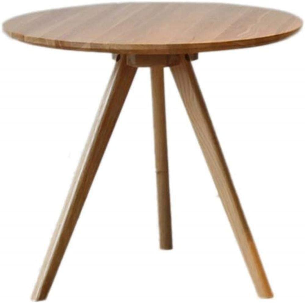LF- コーヒーテーブル、リビングルームのソファベッドルーム小さな丸いテーブルクリエイティブ現代のミニマリストスタイルの家具バルコニー三角脚THREEの色 シック (Color : Wood, Size : 40cm)