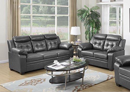Leather Sofa Loveseat Set - 3