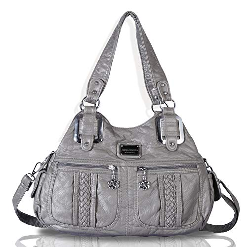 Gray Hobo Handbag - 6