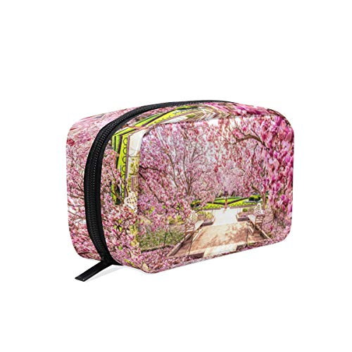 (Cosmetic Bag Enjoy Cherry Blossoms In Japan Customized Makeup Bags Square Organizer Portable Pouch Pencil Storage Case for Women/Girls)