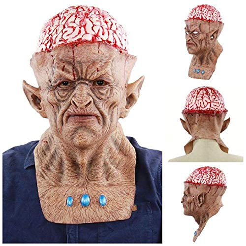 Halloween Fancy Dress Escape (Halloween Horror Mask Scared Party Haunted Dress Tool Escape Bloody Scary Head Cover Makeup Event Festive Accessories)
