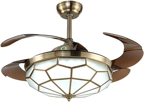 Ventilador de iluminación invisible de techo 4 aspas retráctiles de refrigeración de viento Refresh Air Glass