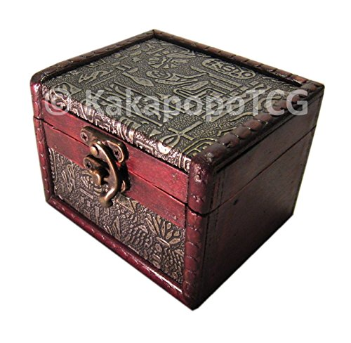 S02-EG Wooden Single Deck Box Ancient Egypt Case for Deck Protector Storage Trading Cards TCG Ultra Pro Sleeve MTG Magic the Gathering Pokemon YGO Yugioh Ultra Pro Lord of the Rings EDH War Hammer 40k