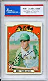 Bert Campaneris Autographed Oakland Athletics Encapsulated Trading Card - Certified Authentic