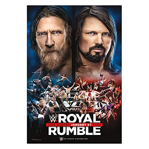 WWE Authentic Wear Royal Rumble 2019 Poster