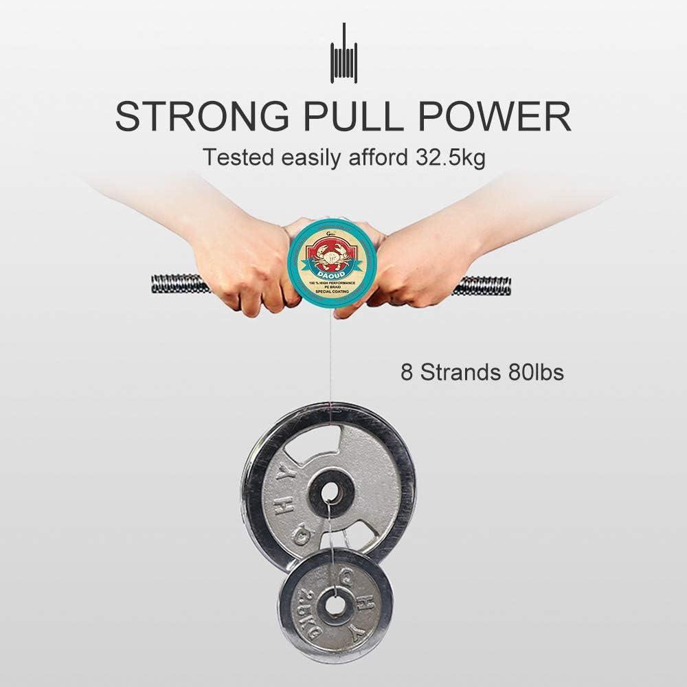 geflochten Daoud SuperPower Angelschnur 8/Str/änge 300/m