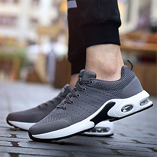 Fitness Baskets Mimiyaya Gris Homme Eu 44 Course Femme Air Sneakers Blanc Chaussure Sports 34 Sport De Running Gym qrBvtrfwx