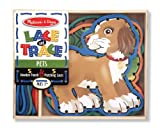 Melissa & Doug Lace and Trace Activity Set: 5 Wooden Panels and 5 Matching Laces - Pets