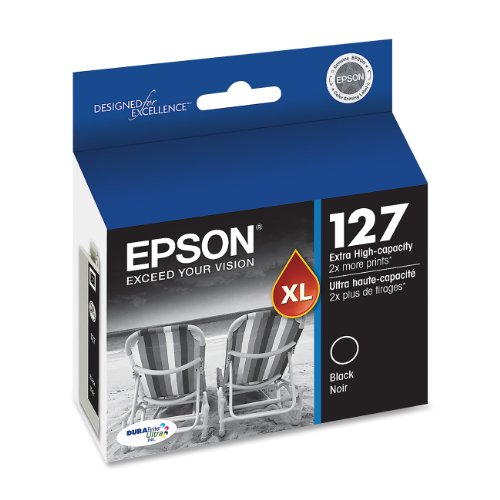 Epson Model Stylus Color - Epson DURABrite XL T127120 Ultra 127 Extra High-capacity Inkjet Cartridge-Black