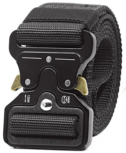 Utility Belt Cobra Riggers Belt & tactical key holder – Gun Belts for Concealed Carry – Quick Release Gun Belt – Black Tactical Belt Duty Belt Gun Belt Men Inner Battle Belt Police Belt(43mm Black)