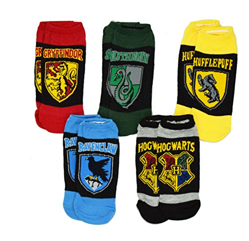 Harry Potter Hogwarts Gryffindor House Crest 5 Pack Ankle Socks