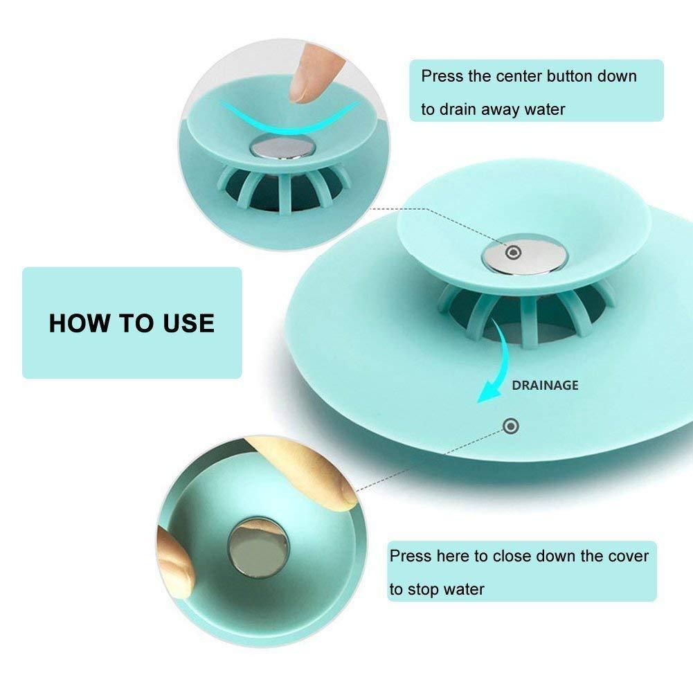 Amazon.com: 4pcs Shower Drain Stopper Plug Bathtub Cover Portable ...