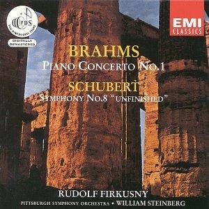Brahms, Schubert, William Steinberg, Pittsburgh Symphony Orchestra, Rudolf  Firkusny - Brahms: Piano Concerto No. 1 / Schubert: Symphony No. 8 -  Amazon.com Music