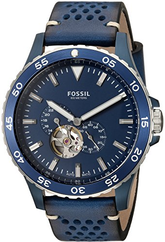 Fossil Men's ME3149 Crewmaster Sport Automatic Blue Leath...
