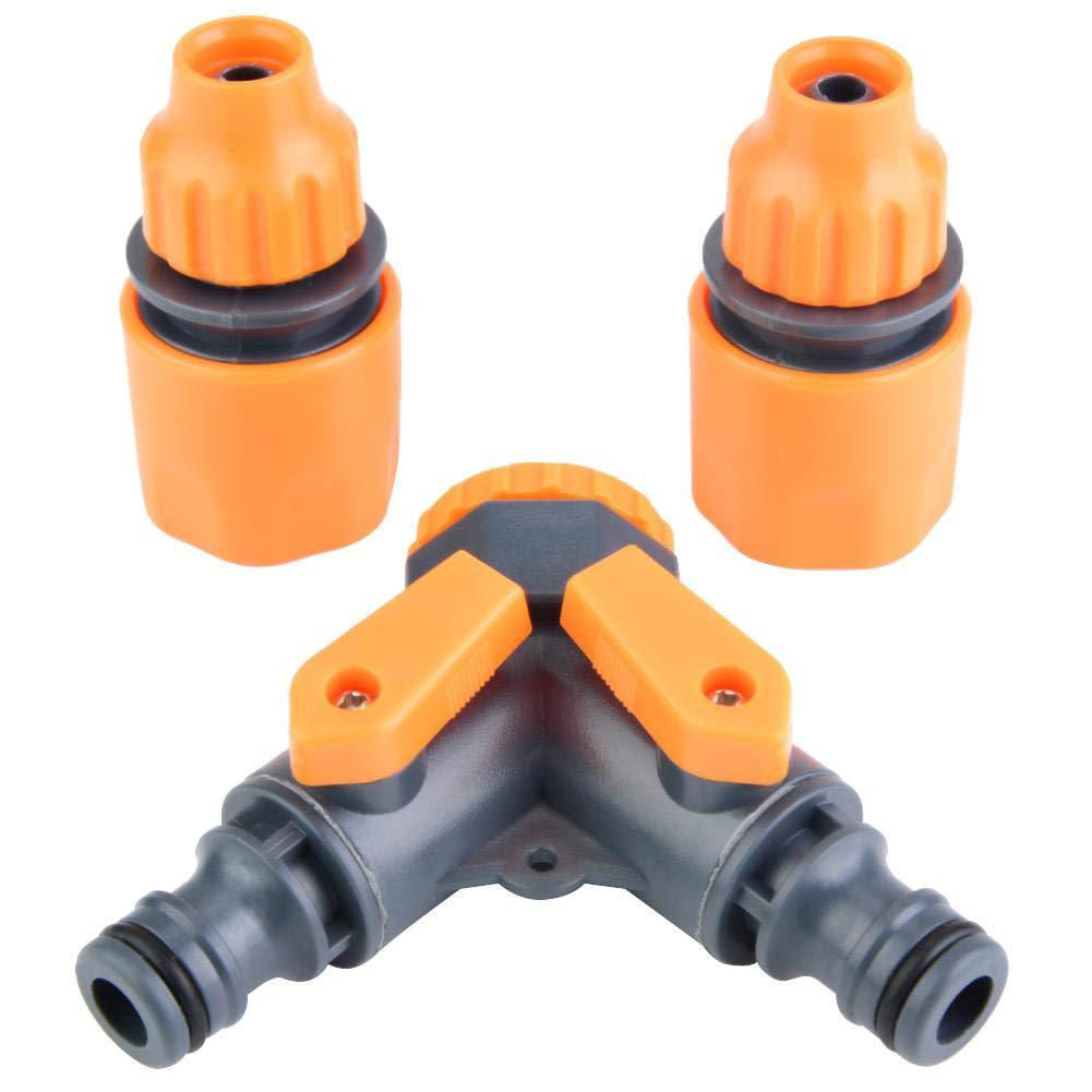 TOPINCN Desviador de la tuber/ía de Agua Adaptador de la Pl/ástico Jard/ín Forma en Y Grifo de la Manguera V/álvula Splitter Conector r/ápido de 8 v/ías 8-12mm