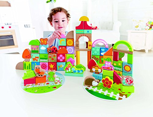 Paragon Garden (Hape Garden Themed Wooden Building Block Set - 85 pc)