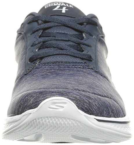 Skechers Performance Damen Go Walk 4 Lace-Up Wanderschuhe Navy / White Heather