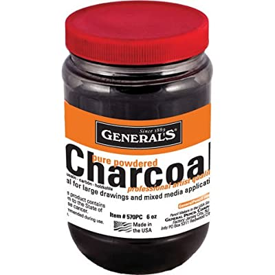 General Pencil - Powdered Charcoal & Graphite - Powdered Charcoal