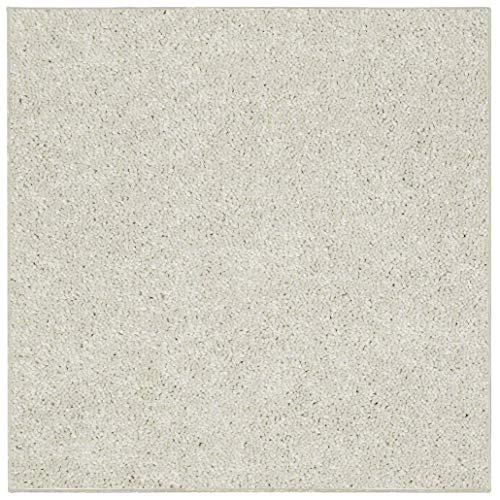 Bright House Solid Color Area Rug, Square, 12' L, Off - Off Square Rug White