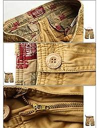 Match Men\'s Twill Comfort Cargo Short Without Belt #S3612 (Label size 3XL/38 (US 36), Khaki)