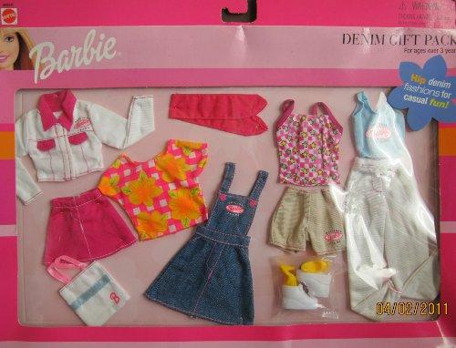 Barbie Fashions Denim Gift Pack w Hip Denim Fashions For Casual Fun (1999) by Barbie