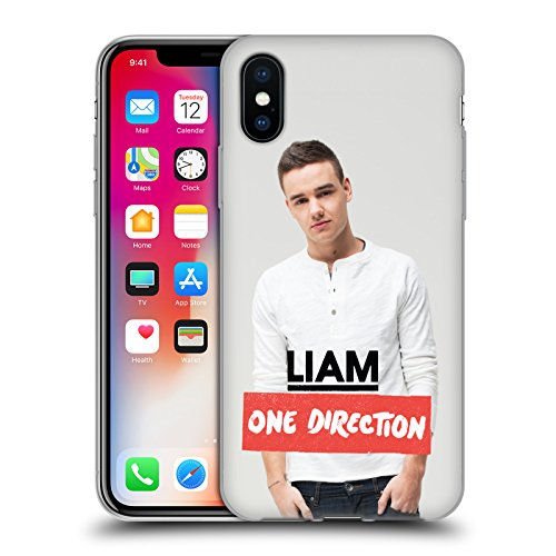 Official One Direction White Longsleeve Liam Payne Photo Soft Gel Case for Apple iPhone X
