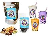 10+ Drinks Spiced Chai Boba Tea Kit: Tea Powder, Tapioca Pearls & Straws By Buddha Bubbles Boba