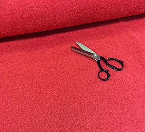1 m pieza de color rojo - algodón de rizo para toallas de tela gruesa y pesada - 400 gsm - 150 cam extraanchos: Amazon.es: Hogar