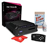 Hyperkin RetroN 5 HD Gaming Console for GBA/ GBC/ GB/ SNES/ NES/ Super Famicom/ Famicom/ Genesis/ Mega Drive/ Master System With Katamco 1UP Cleaning Kit and Circuit City Mircofiber Cloth (M01688-BK)