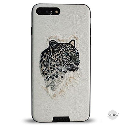MayAi iphone 7 Case, iphone 6s Case, iphone 6 case,Embroidered 3D Case Cover Leopard and Dragon for Apple, Magnetic Function, Premium Bumper Protectio…
