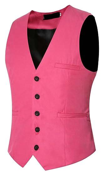 Pink blazer vest