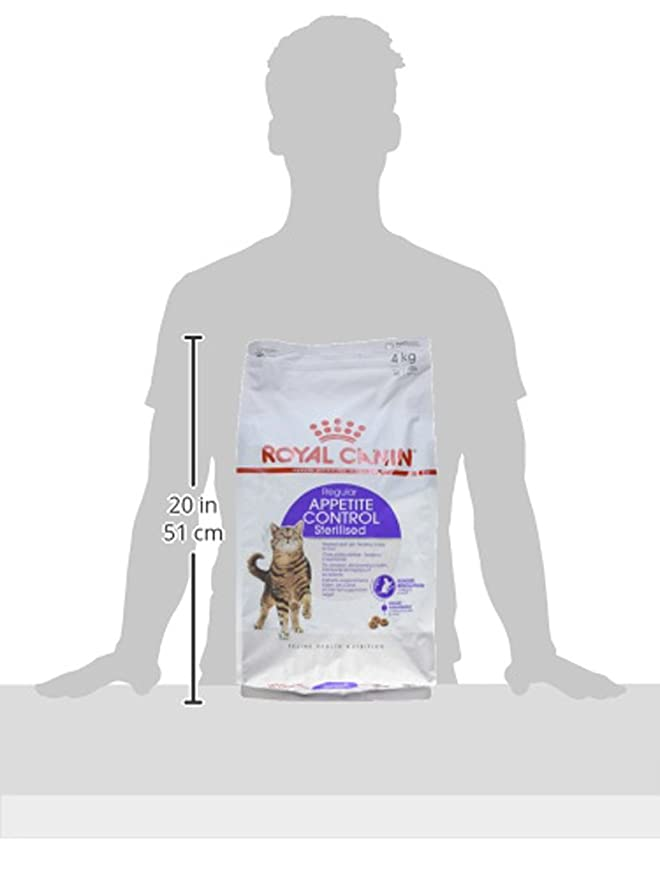 Amazon.com : Royal Canin Dry Cat Food Sterilised Appetite Control 4kg : Pet Supplies