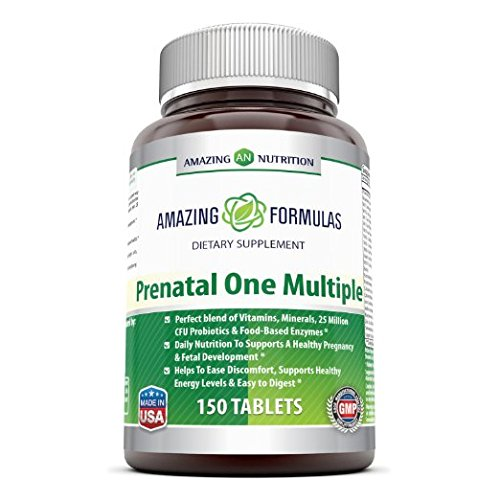 Amazing Formulas PRENATAL ONE MULTIPLE- 150 Tablets Just 1 tablet helps to provide essential nutrients in potencies that deliver optimal nourishment and protection Review