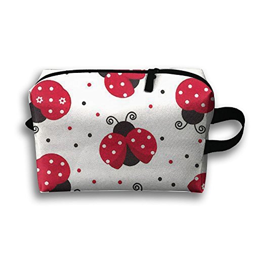 Coccinella Septempunctata Beetle Travel Classic Anti-bacterial Scratch Resistant Cosmetic Bag For Children Makeup Bag Accessory Case Pencil Case Gym