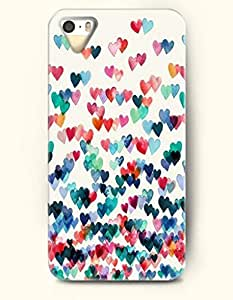 Phone Case For iPhone 5 5S Falling Hearts - Hard Back Plastic Case / Oil Painting / OOFIT Authentic