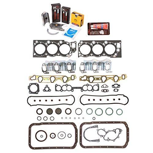 Evergreen Engine Rering Kit FSBRR2030\0\0\0 88-95 Toyota 4Runner Pickup 3VZE Full Gasket Set, Standard Size Main Rod Bearings, Standard Size Piston (Full Set Housing)