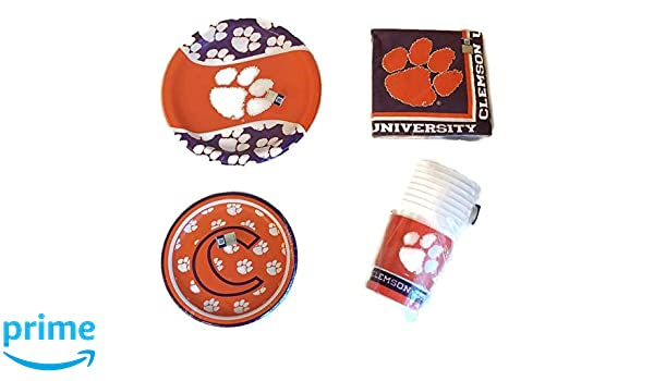 Creative Converting Clemson Tigers 7-Inch Paper Plates 8 Per Pack