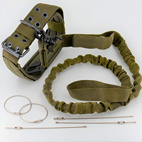 0b7fe35fb9dbf Tactical Training Dog Leash  Green  (1)  Quick Release  + Adjustable