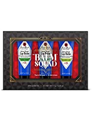 JACK BLACK - The Balm Squad Set - Intense Therapy Lip Balm SPF 25 Trio. Natural Mint & Shea Butter, Cucumber Lime, Basil Lemon. Exclusive Limited Edition Flavors. 3-Piece Kit.