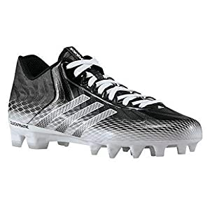 adidas Men's Crazyquick Low Football Cleats (13.5, Black/Running White/Running White)