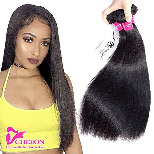 - 8A Virgin Malaysian Straight Hair 3 Bundles Deals 100% Unprocessed Virgin Human Hair Weaving Remy Human Hair Extensions 300g Natural Black (16 18 20 inches, Natural Color)