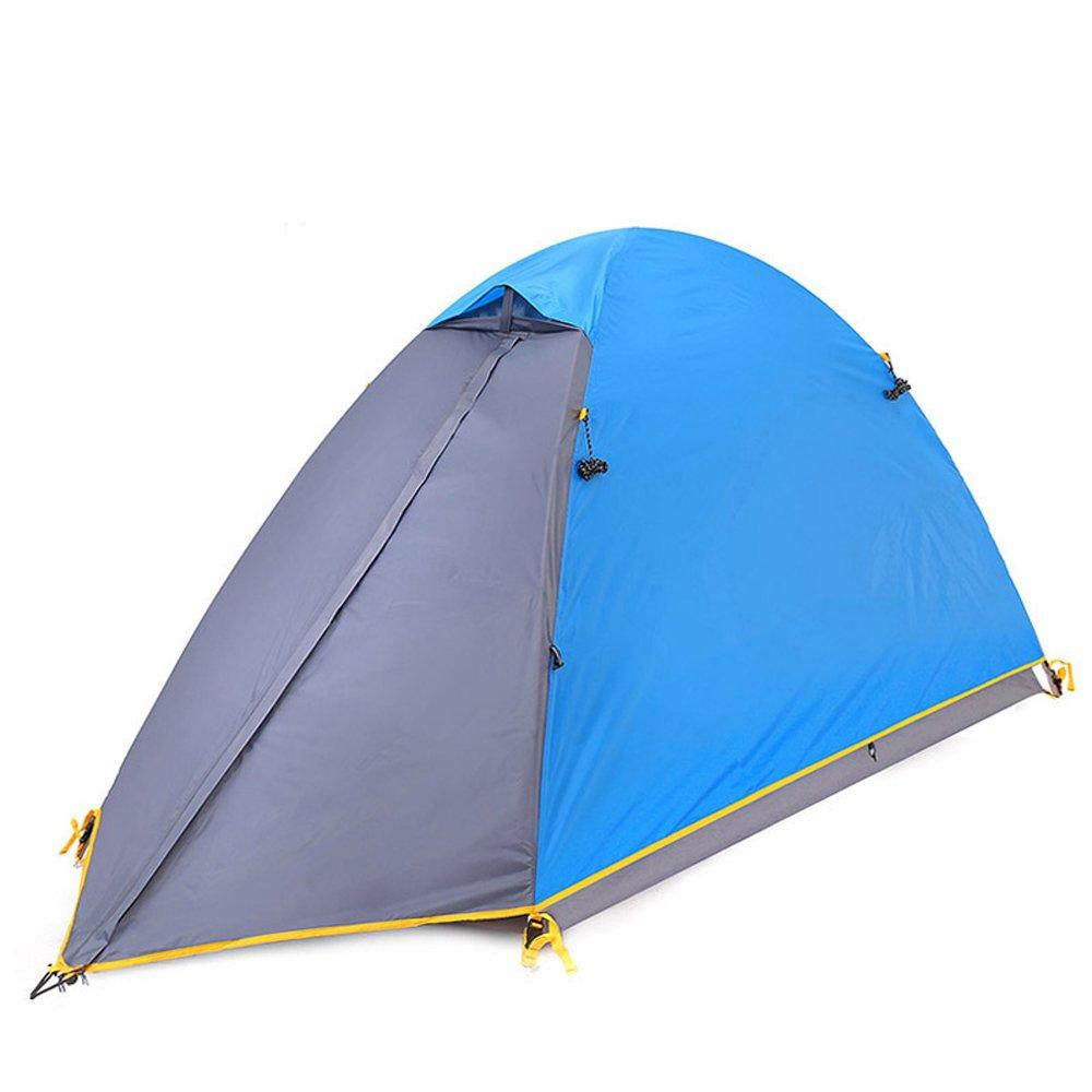 QB-tent Doppeltes Aufruhr-Regenfestes windundurchlässiges Licht des Freienzeltes im Freien öffnen professionelles kampierendes blaues Zelt