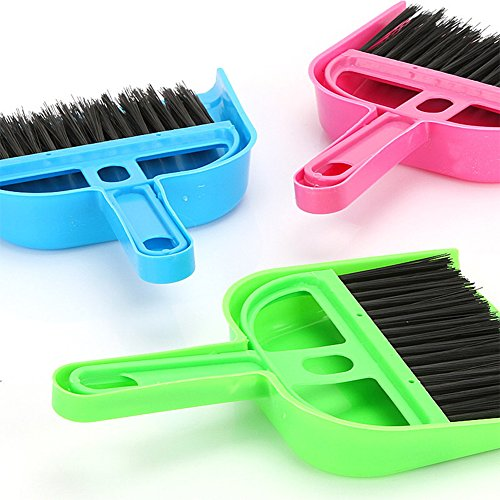 Zehui Plastic Pet Cleaning Supplies Mini Hand Broom with Snap-on Dust Pan